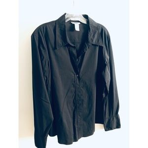 Old Navy Ladies Black Button Down Large